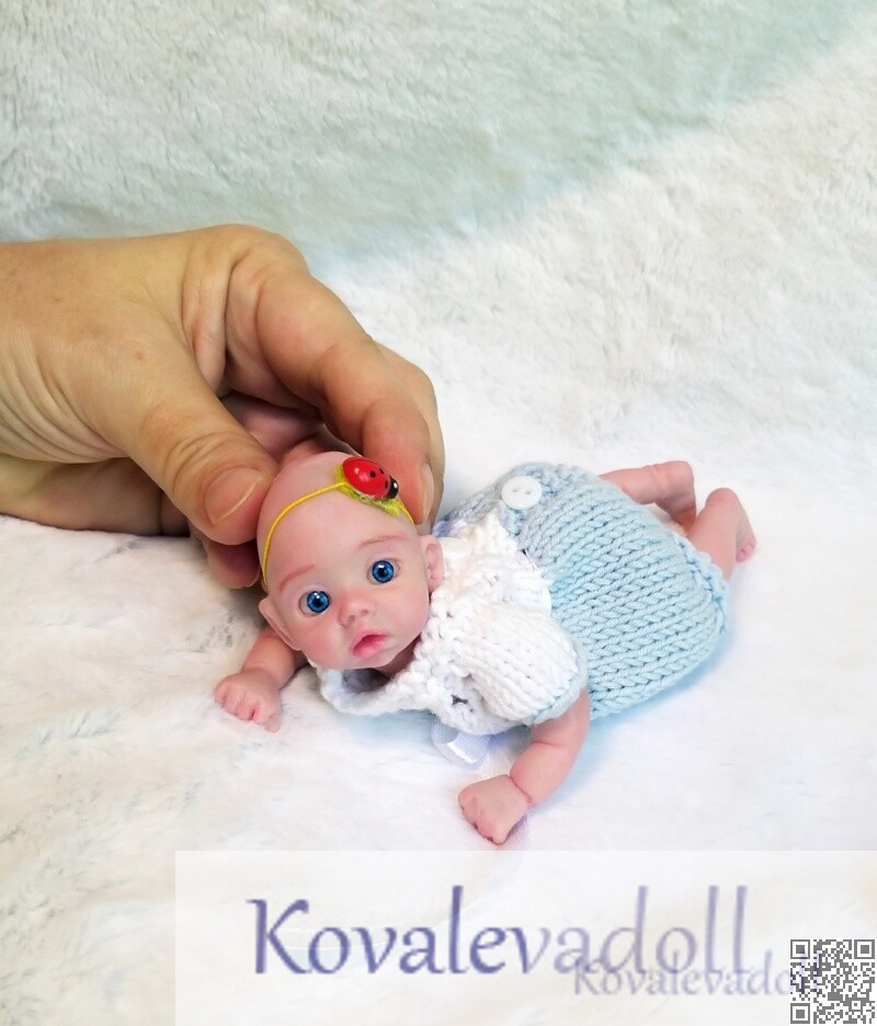 Platinum Miniature Silicone Reborn baby Mia 6 inch artist Kovaleva Natalya