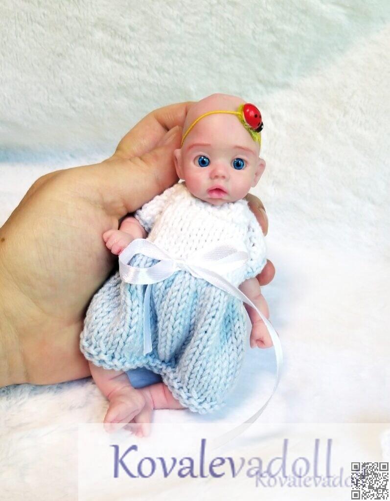 Darling Silicone Reborn baby Mia 6 inch artist Kovaleva Natalya