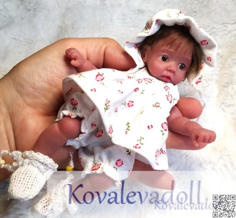 AA mini silicone baby dolls Mia 6 inch by Kovalevadoll Kovaleva Natalya04