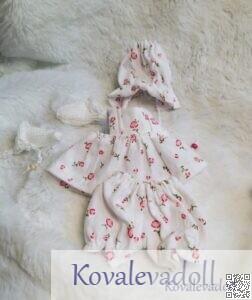 Mini dress for 6 inch silicone babies by Kovalevadoll Kovaleva Natalya03