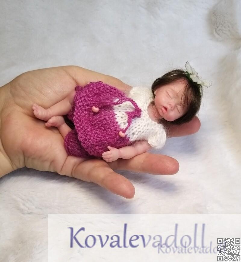 Sale mini silicone baby dolls Petal 5 inch by Kovalevadoll Kovaleva Natalya09