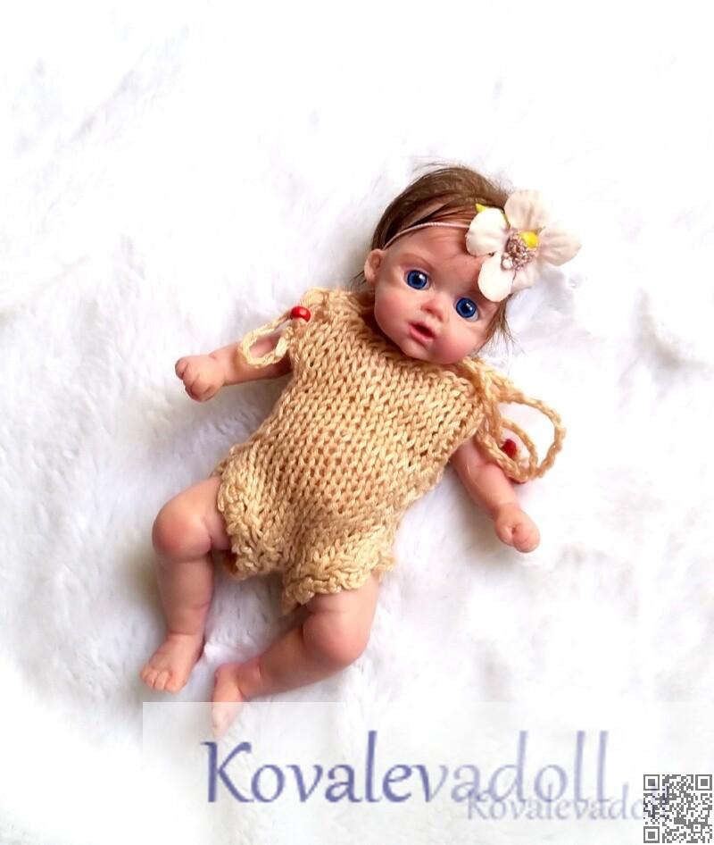 mini silicone baby dolls Katy 6 inch by Kovalevadoll Kovaleva Natalya28